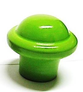 """ידית עץ 054 ירוק (40 מ""""מ)"""