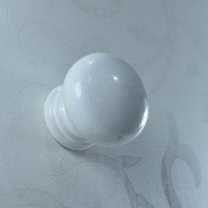 ידית כפתור פלסטיק לבן