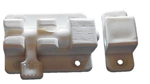בריח פלסטיק קטן לבן