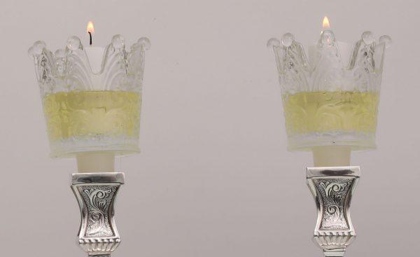 כוס זכוכית לנרות