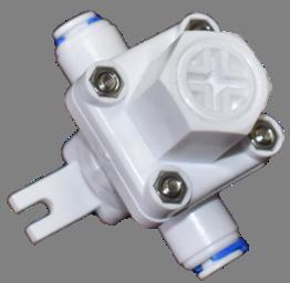 מקטין לחץ פלסטיק + חיבור מהיר לצינור