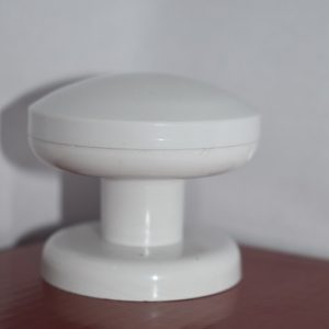 ידית כפתור פלסטיק לדלת הזזה זוג לבן