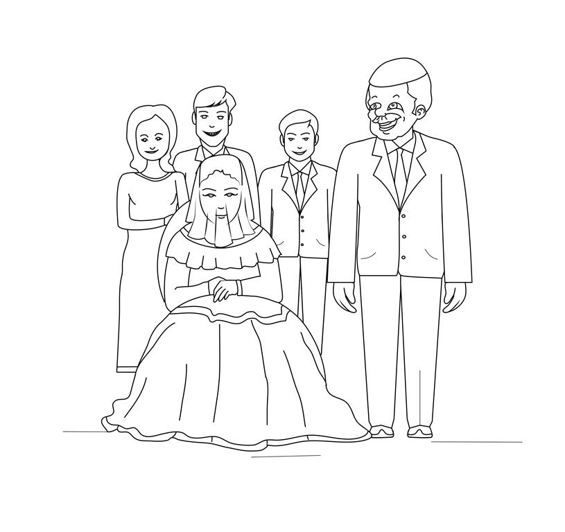 ציור של חתונה