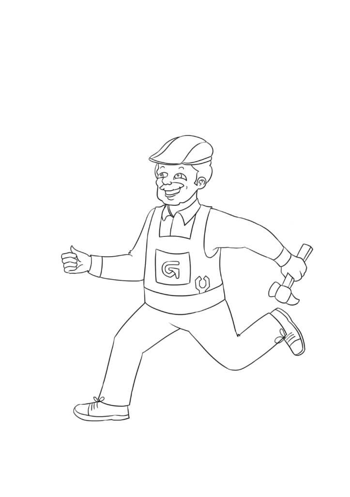 ציור של ריצה